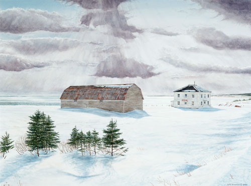 After the storm, Private collection, Perce, Quebec