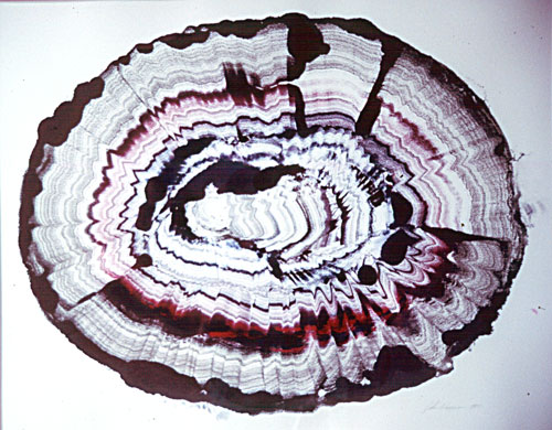 Red Agate, Ink Monotype, Artist's collection