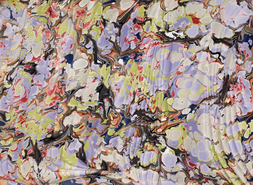 Curtains, Marbled paper, Artist's collection